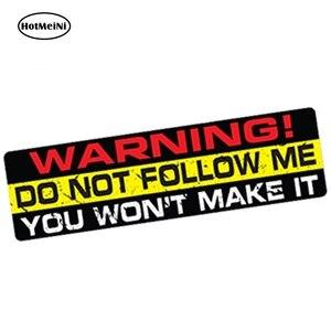 HotMeiNi 15cm x 4cm Car Styling DO NOT FOLLOW ME Decal Car Sticker Vinyl Funny Bumper 4X4 SUV Waterproof Car Trunk Accessories