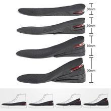 3-9 см, увеличивающая рост стелька, подстилка, регулируемая высота, подтяжка обуви, вставка на каблуке выше, для женщин, мужчин, унисекс, качественные подушечки для ног