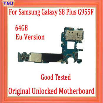 100% Original unlocked for Samsung Galaxy S8 Plus G955F Motherboard,64gb EU Version for Galaxy S8 G955F Mainboard,Free Shipping
