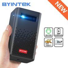 BYINTEK P20 Mini przenośny inteligentny Android WIFI FULL HD 1080P TV wideo lAsEr LED projektor DLP dla mobilnego smartfona 3D 4K kino tanie tanio Auto Korekty Instrukcja Korekta 16 10 CN (pochodzenie) Brak 280 ANSI lumens 854x480 dpi 30inch-150inch 2500 1 Rozrywki Projektora