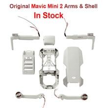 Em estoque original dji mini 2 braços corpo escudo médio quadro inferior cobertura superior mavic mini 2 substituição peças de reposição reparo