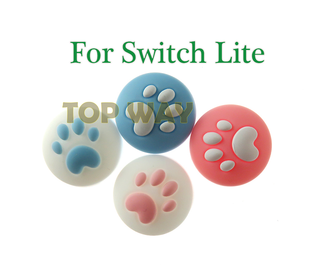 30SETS Cute Cat Paw Claw Thumb Stick Grip Cap Joystick Cover For Nintend Switch Lite NS Joy-Con Controller Gamepad Thumbstick