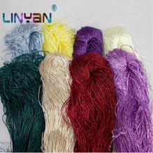 10pcs Ingredients100 ice silk 400g Summer knit yarn for crochet Thin tippet line curtaining knitting thread wholesale ZL59 cheap LinYan CN(Origin) Dyed 40g 1pcs 1mm diameter Rayon Nylon Mercerized Hand Knitting Spun Low Shrinkage Abrasion-Resistant