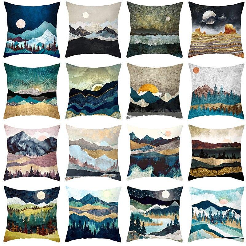 Home Sofa Pillow Cushion Cover Decorative Pillowcase 45 45cm Home Hotel Bronzing Pattern Art Pillowcase