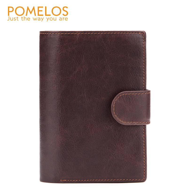 POMELOS Men Wallet Fashion New Arrival Wallet Men Genuine Leather Functional Man Wallet With Passport Pocket Small Leather Purse