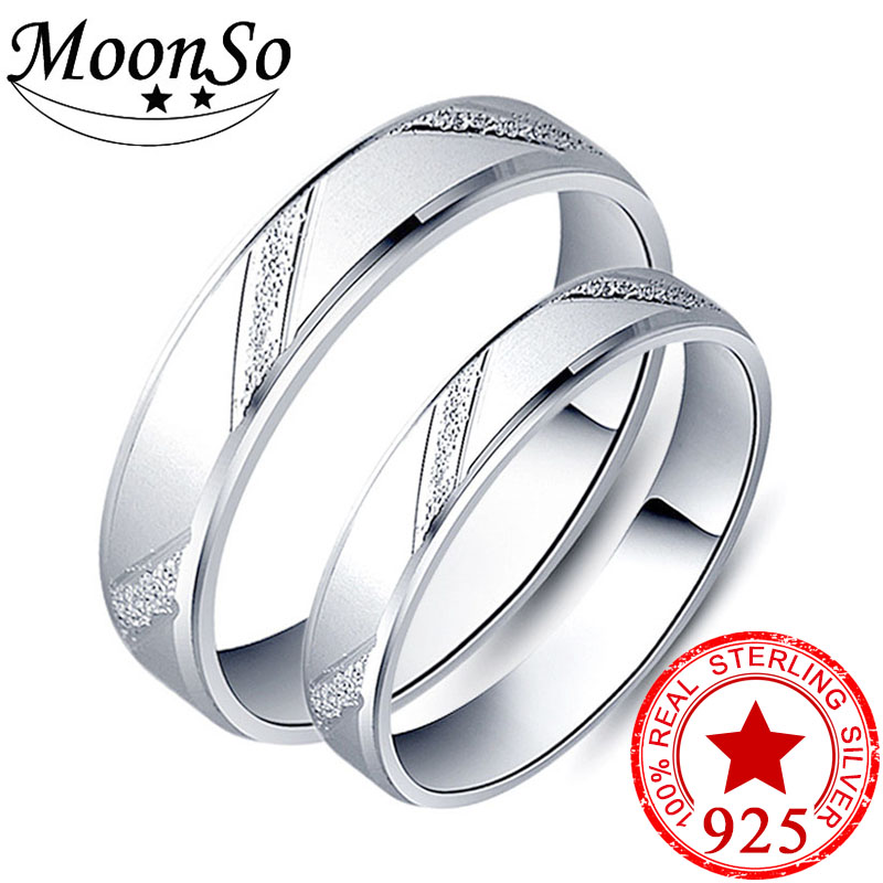 925 srebrnih par srebrnih par prsten muškaraca i žena obećanje dizajn obećanje za ljubitelje ljubav bend vjenčanje zaručni nakit R4343S