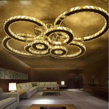 LED ceiling acrylic living room lights energy saving modern minimalist restaurant ceiling bedroom crystal remote control lamp