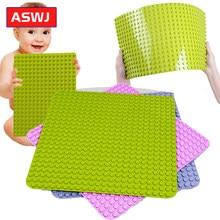 Clássico duplie grandes tijolos placa base 764 pontos diy grande baseplate blocos de construção brinquedos para crianças compatíveis com todos os tipos