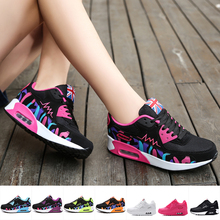 Veamors Women Running Sneakers Causal Lace-up Air Cushion Breathable Mesh Sport Shoes Ladies Gym Sneakers Basketball Trainers