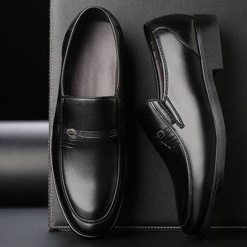 Mocasines De cuero formales Para Hombre, calzado De oficina, Oxford, negro, Para...