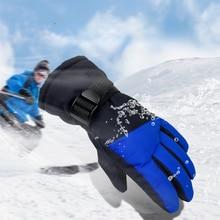 Skiing Gloves Kids Boys Girls Childern Waterproof Windproof Mittens Cycling Bicycle Bike Outdoor Camping Sports Ski Warm Gloves