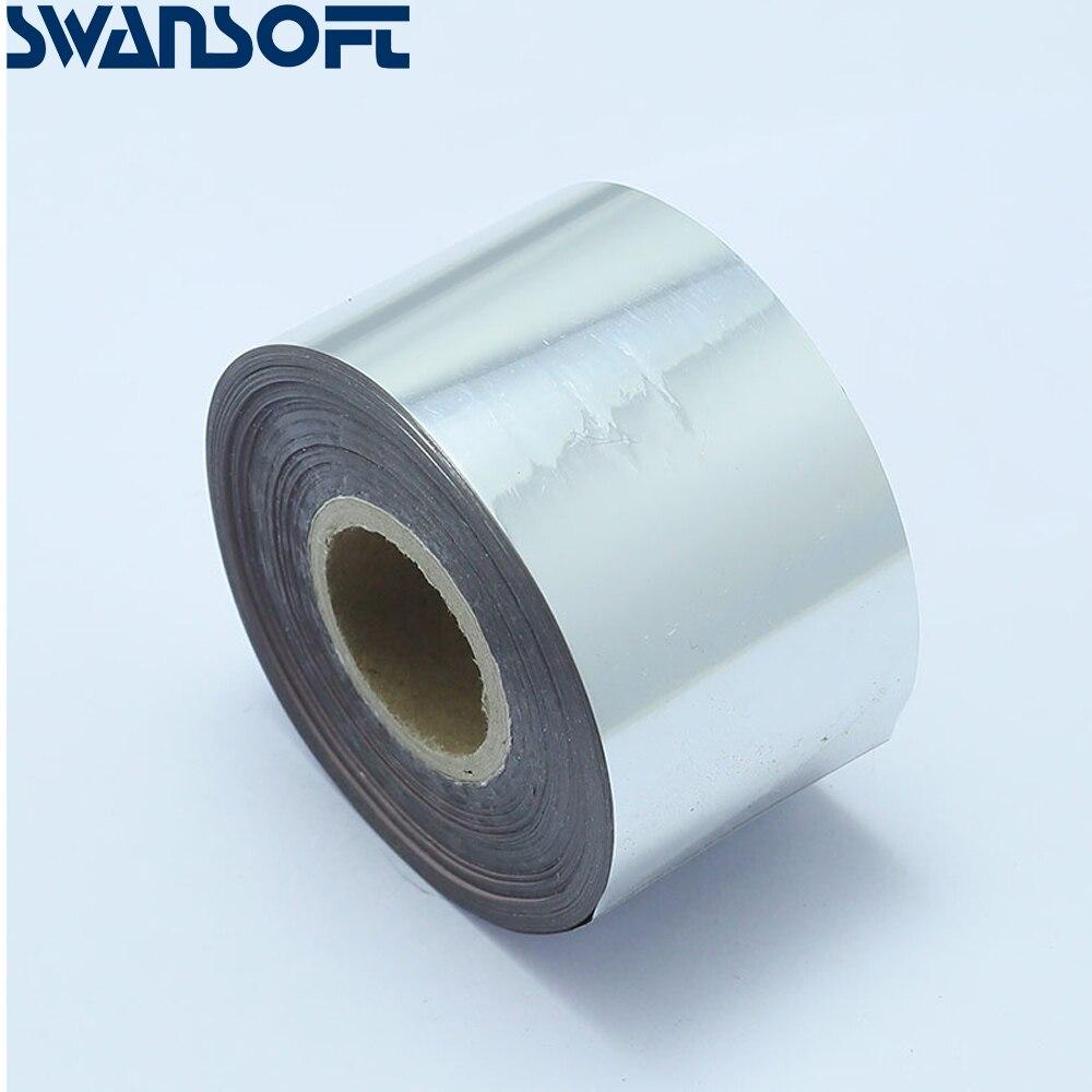 SWANSOFT heißer folie rollen für heißer stanzen maschine 10 farben erhältlich hohe qualität heißer folie papier rollen 4cm X 120M