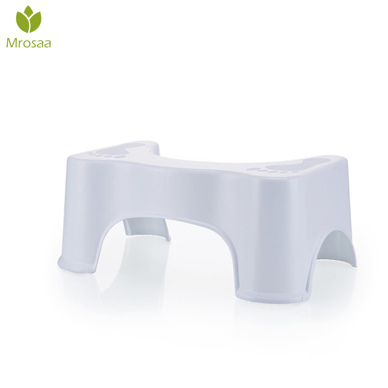 White Non-slip Aid Stool Plastic Toilet Stool Bathroom Anti Constipation Baby Anti Constipation Bathroom Plastic Squatting Stool
