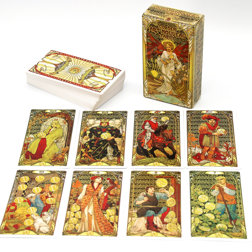 Golden Art Nouveau Tarot Cards Giulia F. Massaglia Truly Sacred With Immaculate Illustrations A Stunning Visual Presentation