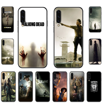 Tv The Walking Dead Phone case For Samsung Galaxy A 3 5 8 9 10 20 30 40 50 70 E S Plus 2016 2017 2018 2019 black art funda image