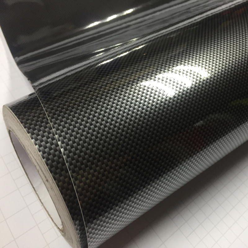2D Car Sticker Glossy Carbon Fiber Vinyl Film Wrap Foil 2D Gloss Texture Waterproof DIY Auto Decorative Stickers Car Accessories
