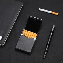 Accesorios para fumar, caja para cigarrillos, 1 unidad, caja de almacenamiento para cigarros, fundas para tarjetas multifunción de acero inoxidable, soporte para tabaco PU