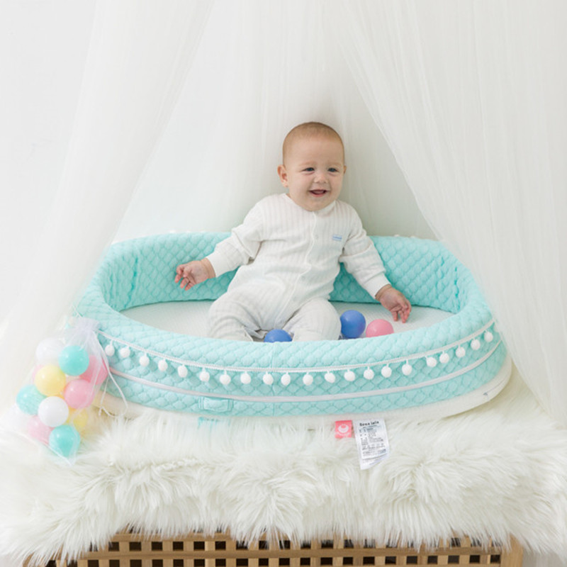 Portable Removable Newborn Baby Crib Travel Bed Nest Bed Cotton Cot Travel Bed Cradle For Children Infant Kids