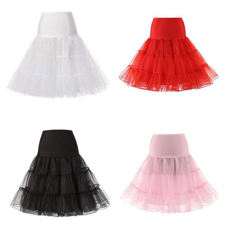 Bride Wedding Dress Petticoat Fashion Lady Women Long No Hoop Rock Ball Ballet Skirts Underskirt Slip Chemise
