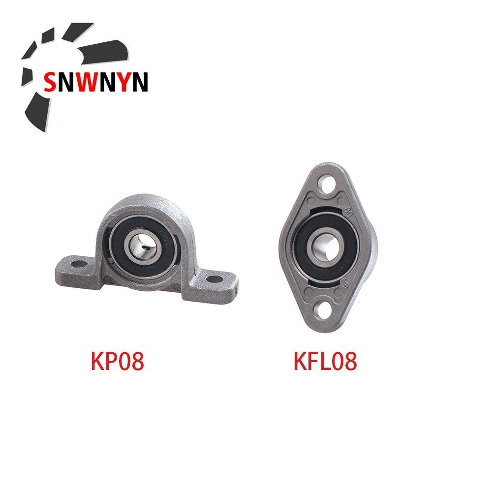 Zink-legierung Durchmesser 8mm Bohrung Kugellager Kissen Block Montiert Unterstützung 2 stücke KP08 KFL08 T8 Horizontale Vertikale Blei schraube Unterstützung