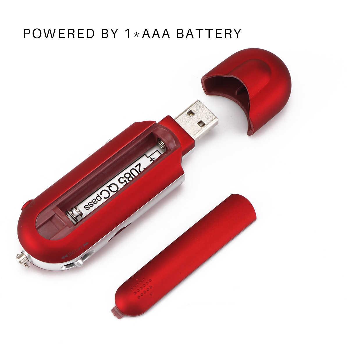 Mini USB แบบพกพา MP3 เครื่องเล่นวิทยุ FM ได้ยินเพลงที่สง่างาม MP3 สนับสนุน 32GB TF Card SD Card และวิทยุ FM