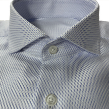 Dress Shirt Wrinkle-Resistant High-Quality 100%Cotton Luxury Blue 80s Tailored Two-Ply