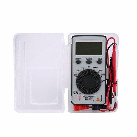 Teste de Dados Contagens Bolso Multímetro Digital ac – dc Tensão Amperímetro Tester Resistor Diodo Continuidade Segurar Escala Automática Dt9210 1999