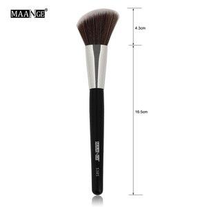 Image 5 - MAANGE 1 pièces Oblique tête pinceau de maquillage visage joue Blush Contour cosmétique poudre fond de teint Blush brosse angle maquillage outils Kit
