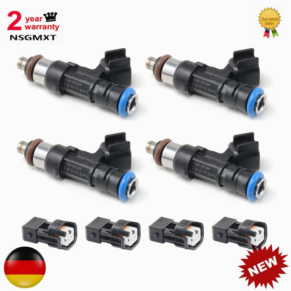 AP01 4 Uds los inyectores de combustible para Audi A4 TT para VW Golf Jetta 1,8 T turbo EV14 60lb 630cc 0280158298 0 280, 158 de 298