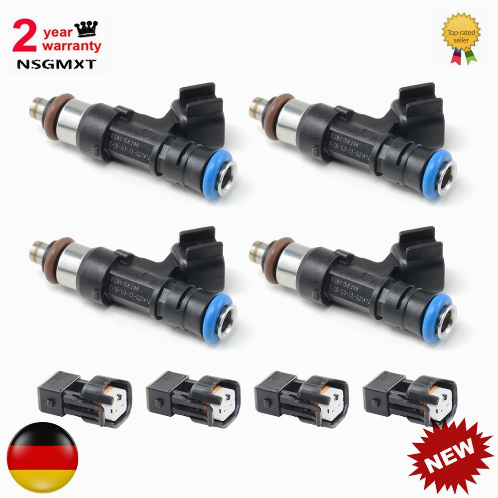AP01 4pcs  Fuel Injectors for Audi A4 TT for VW Golf Jetta 1.8T turbo EV14 60lb 630cc 0280158298  ,0 280 158 298