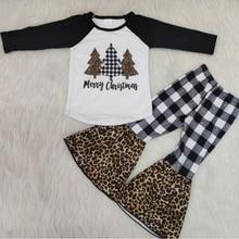 цена Children girls fall clothes girls outfits christmas pajamas kids sleepwear children kids boutique clothing онлайн в 2017 году