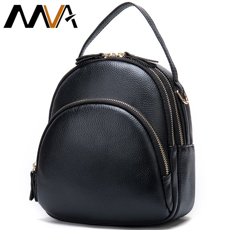 MVA Genuine Leather Backpack Women Backpack Small Backpacks For Girl Schoolbag Mini Leather Backpacks Female mochila feminina