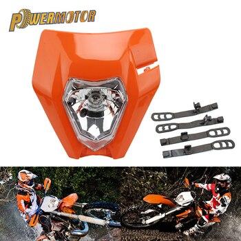 цена на Motorcycle Headlight Supermoto Headlamp For KTM EXC EXCF SXF SX XC XCW XCF XCFW 125 150 250 350 450 530 Enduro Motocross