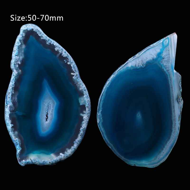 Natural Agate Geode Polished Irregular Crystal Slice Stone DIY Pendant Mineral Home Decoration  E65B