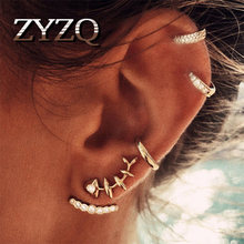 ZYZQ Retro Sun and Moon Ear Clip Set Old-Fashioned Geometric Star Ear Cuffs for Women Birthday Gift Jewelry wholesale