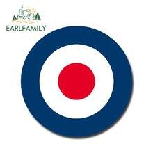 EARLFAMILY 13 см x 13 см глянцевая виниловая наклейка s RAF Roundel The Who Mod Target Vespa Светоотражающая наклейка для автомобиля водонепроницаемый автомобильный Стайлинг