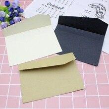 10PC Classical White Black Kraft Blank Mini Paper Window Envelopes Wedding Invitation Envelope Gift Envelope цена