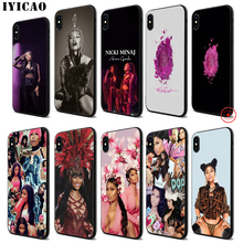 IYICAO Nicki Minaj Rapper Popular Soft Black Silicone Case for iPhone 11 Pro Xr Xs Max X or 10 8 7 6 6S Plus 5 5S SE