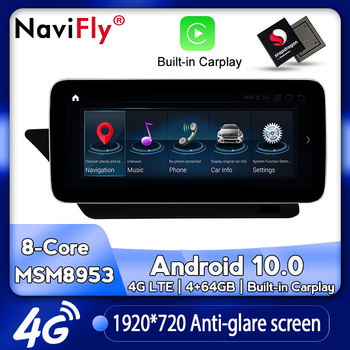 NaviFly New Android 10.0 Car dvd radio multimedia Player GPS navigation for Mercedes Benz E class C207 W207 A207 Two door Coupe image