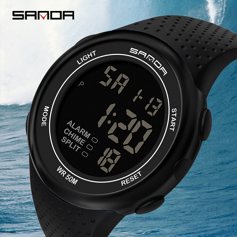 Digital Wristwatches Waterproof Electronic-Clock Fashion Men Mens Relogio Man 30M Masculino