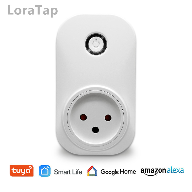 Tuya Smart Life Wifi Socket Israel Plug 16A App Remot Control Voice Control with Google Home Alexa Echo Timer the Devices-in Switches from Lights & Lighting