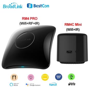 цена на 2020 Broadlink RM4, Broadlink RM4 PRO, RM4C Mini Smart Home Remote WIFI IR RF Universal Remote Controller Work with Alexa Google