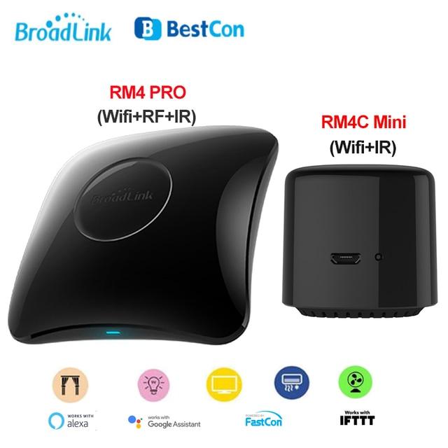 2020 Broadlink RM4, Broadlink RM4 PRO, RM4C Mini Smart Remote Host WIFI IR RF Universal Fernbedienung Arbeit mit Alexa Google