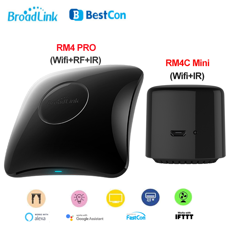 2020 Newest Broadlink RM4 PRO RM4C Mini Smart Home Automation WIFI IR RF Universal Remote Controller Works With Alexa Google
