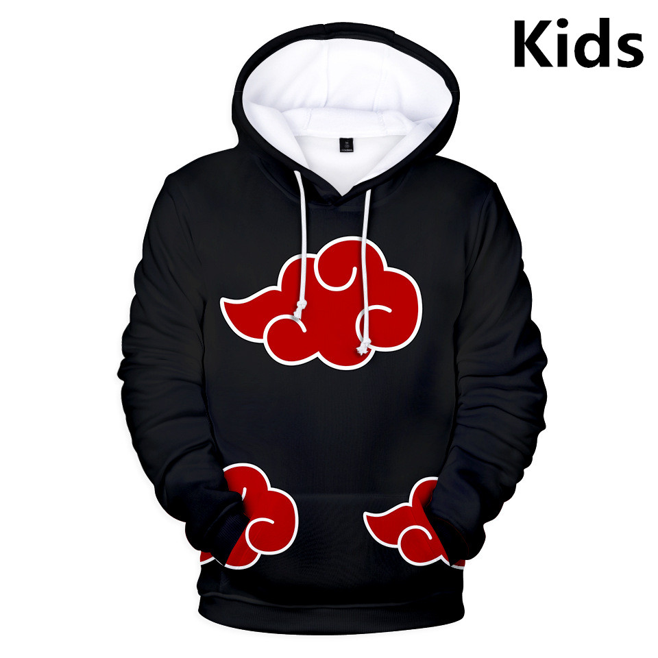 3 To 14 Years Kids Hoodies 3D Naruto Uzumaki Hoodie Sweatshirt Boys Girls Uchiha Family Cartoon Jacket Tops Teen Clothes
