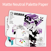 Disposable Tear-Off Palette Paper Art Special 30 Sheets Double-Sided Usable For Acrylic Oil Painting Watercolor Free Cleaning