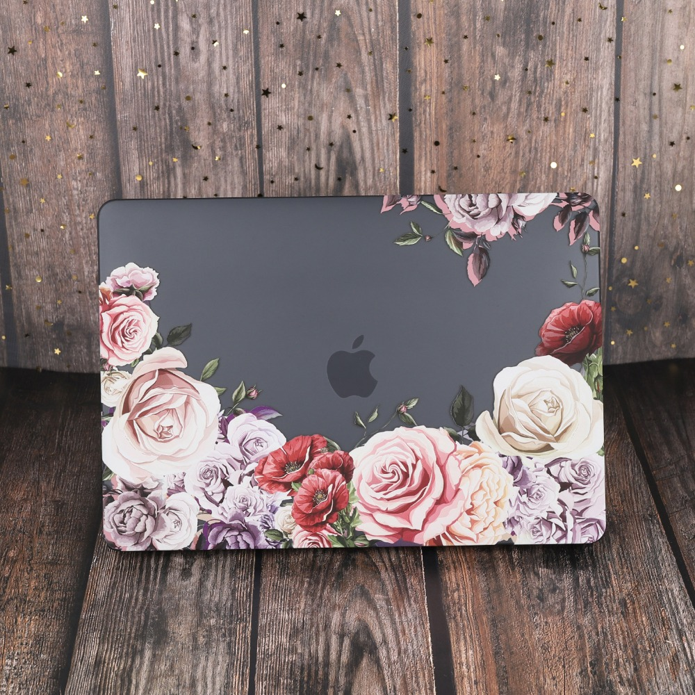 Marble Flower Bling Case for MacBook 85