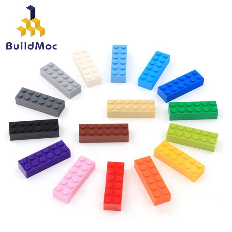 20 piezas de bloques de construcción DIY para niños, figuras gruesas de bloques, 2x6 puntos, educativo, creativo, tamaño Compatible con lego, juguetes de plástico