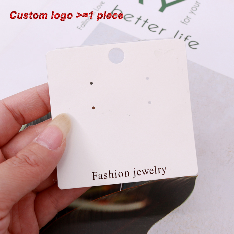 50Pcs Paper Hanging Drop Earrings Display Jewelry Package Studs Holders Hoops Earring Card Holder New