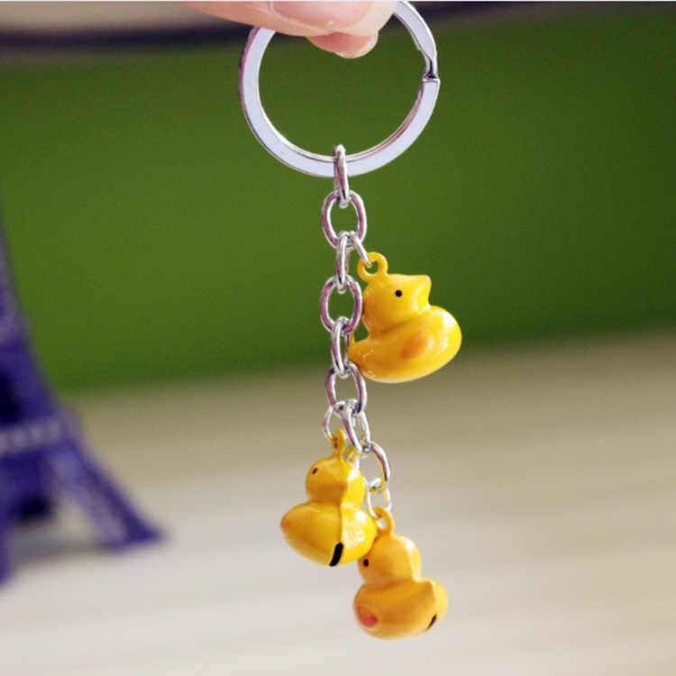 2019 Новая модная Симпатичная желтая кожа мягкая курица утиная цепочка ключей для животных сумка унисекс автомобильный брелок подарит небольшой подарок